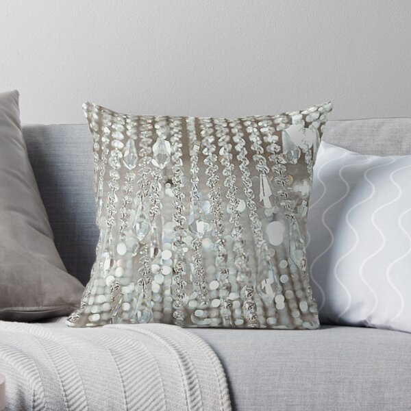 Chandelier of Crystals and Light Throw Pillow