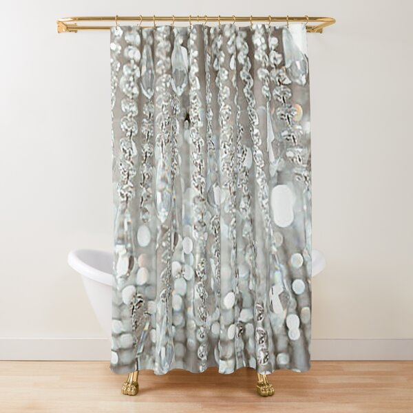 Chandelier of Crystals and Light Shower Curtain