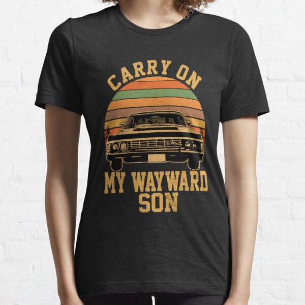 Carry on my Wayward Son, supernatural Vintage sunset distressed style Essential T-Shirt