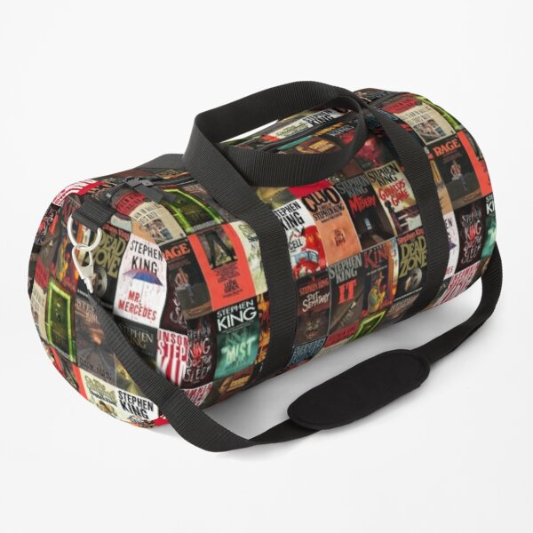 Stephen King Book Cover Collage Duffle Bag