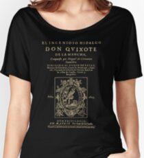 Cervantes, Don Quijote de la Mancha. Dark clothes version Women's Relaxed Fit T-Shirt