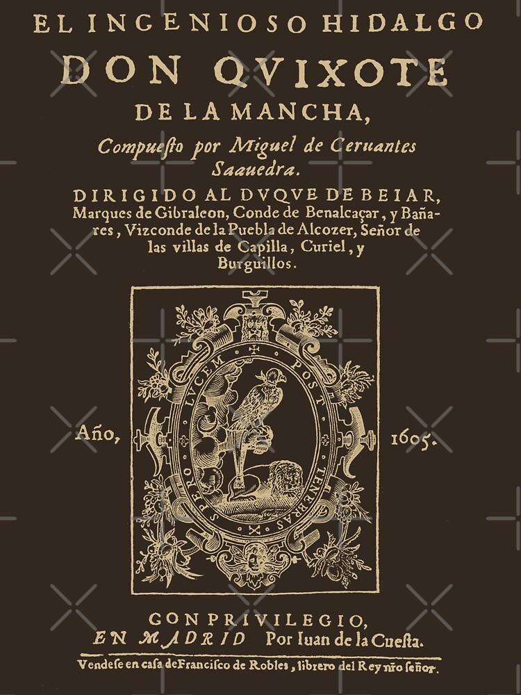 Cervantes, Don Quijote de la Mancha. Versión de ropa oscura de bibliotee