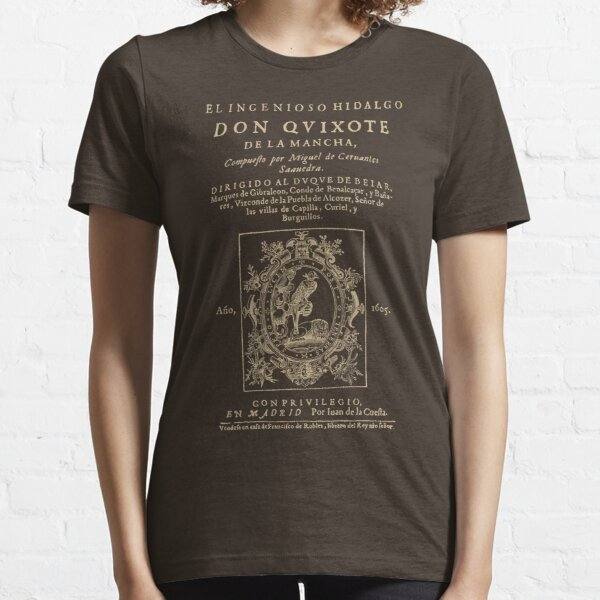 Cervantes, Don Quijote de la Mancha. Dark clothes version Essential T-Shirt