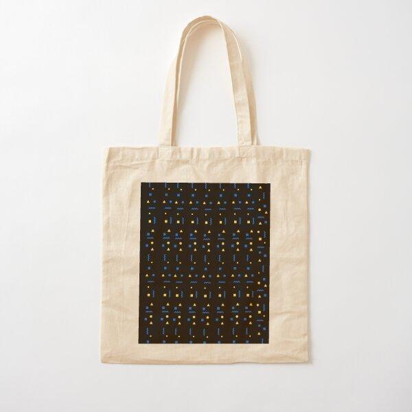 Cultural Patterned Black Cotton Tote Bag