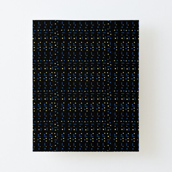 Cultural Patterned Black Canvas Mounted Print