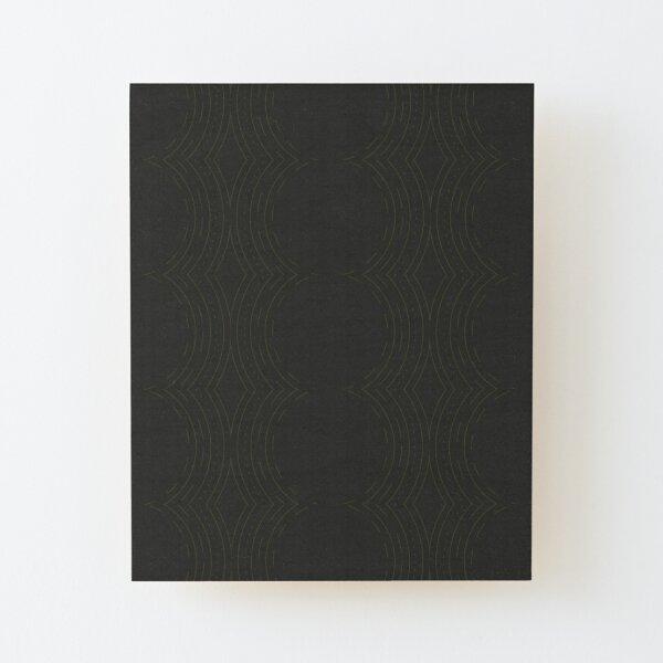 Black Cultural Circle Wood Mounted Print