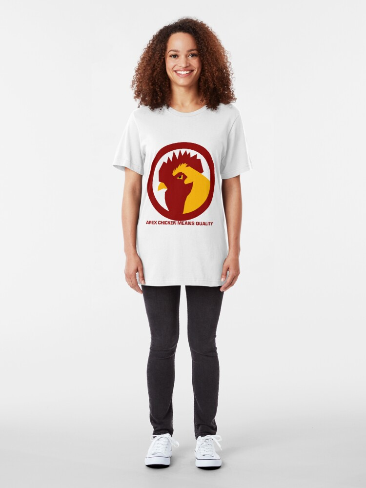 Alternate view of Apex Chicken Means Quality Slim Fit T-Shirt