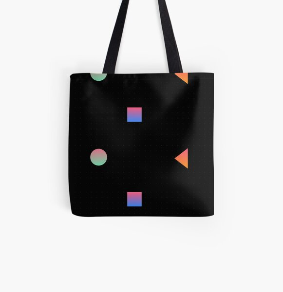 Patterned Colored Geometric Prints All Over Print Tote Bag
