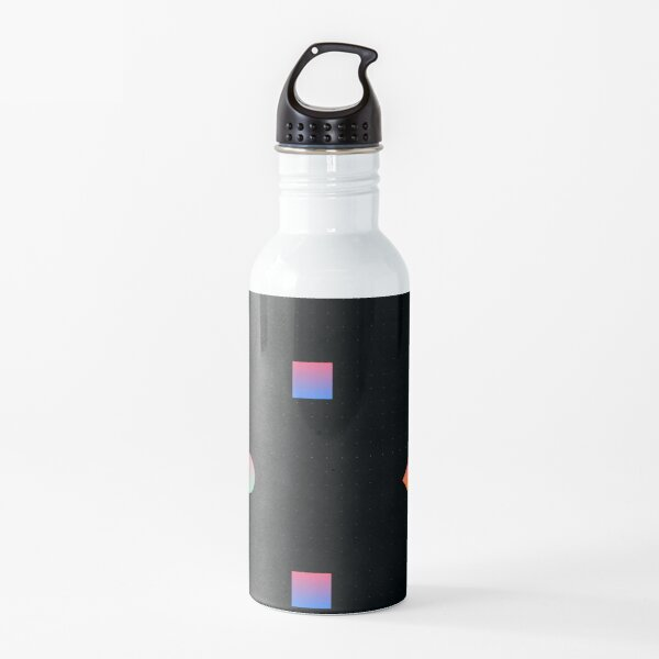 Patterned Colored Geometric Prints Water Bottle