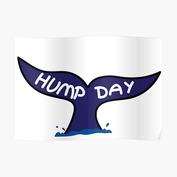 Hump day Whale Poster