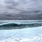 Ice Wave on Lake Superior by AUSSKY