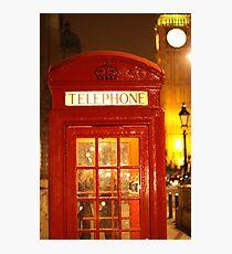 Phone box and Big Ben Photographic Print