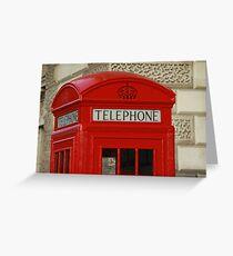 London Telephone Greeting Card