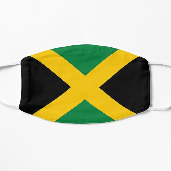 Jamaican Flag Flat Mask