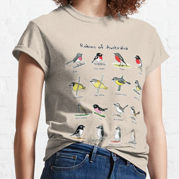 Robins of Australia - Raising funds for Birdlife Australia Classic T-Shirt
