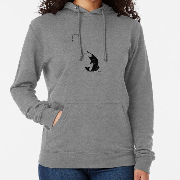 Fishing, trout on the line.  Lightweight Hoodie