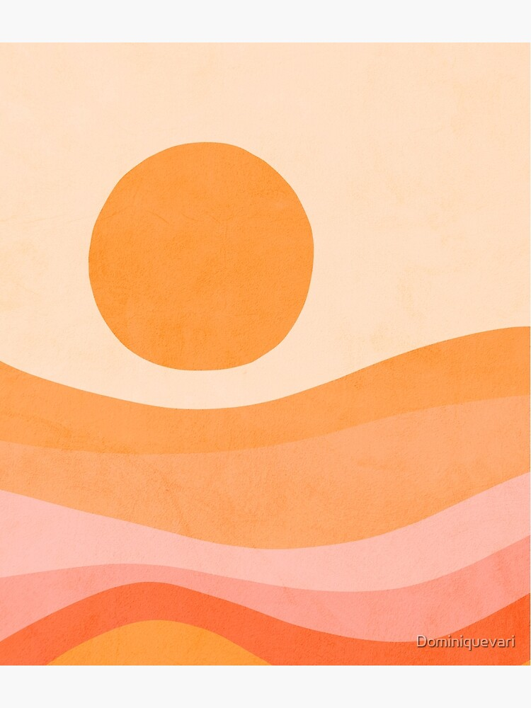 Mid Modern Golden Summer Sunset - abstract landscape by Dominiquevari
