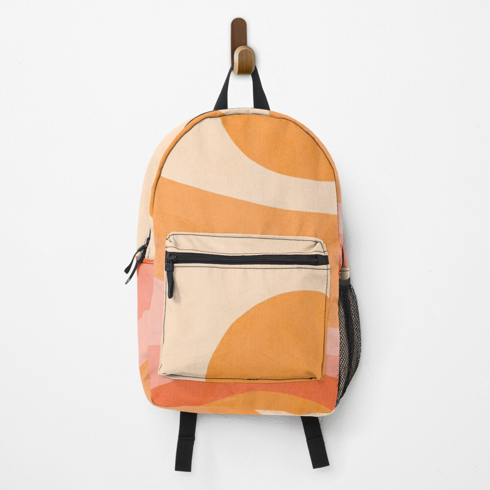 Mid Modern Golden Summer Sunset - abstract landscape Backpack
