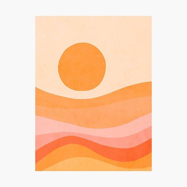 Mid Modern Golden Summer Sunset - abstract landscape Photographic Print