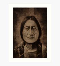 ✌☮ Ohkwari  Bear in Mohawk-Running Bear✌☮  Art Print