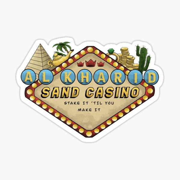 Sand Casino Sticker