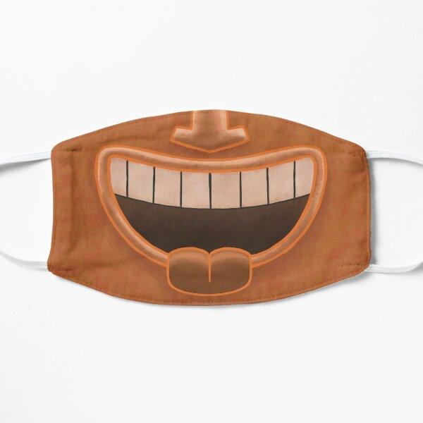 Orange Tiki Smile Mask! Flat Mask