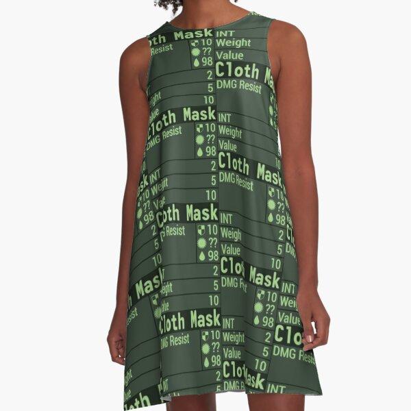 Face Mask Stats A-Line Dress