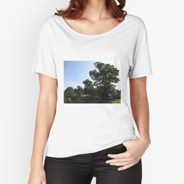 Merch #89 -- Stream Between Trees - Shot 1 (Hadrian's Wall) Relaxed Fit T-Shirt