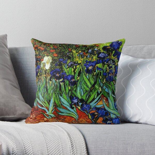 """Irises"" - Vincent van Gogh Fine Art Throw Pillow"