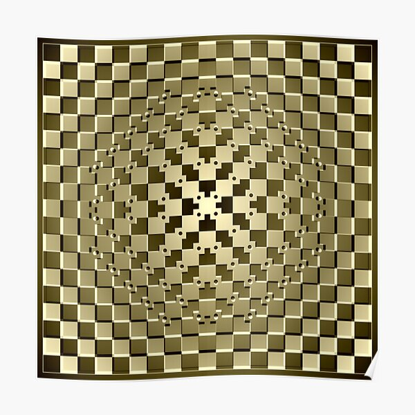 Optical iLLusion Abstract Art Poster
