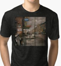 City - Amsterdam NY -  Call 666 for Taxi 1941 Tri-blend T-Shirt