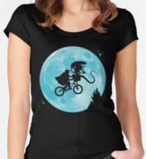 E.T. vs Aliens - transparent Women's Fitted Scoop T-Shirt