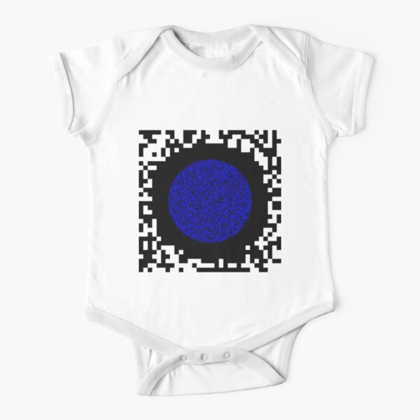 Optical illusion abstract art Short Sleeve Baby One-Piece