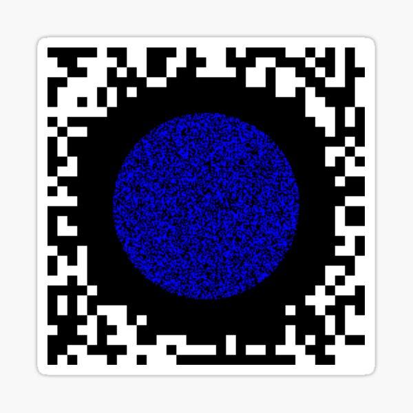 Optical illusion abstract art Sticker