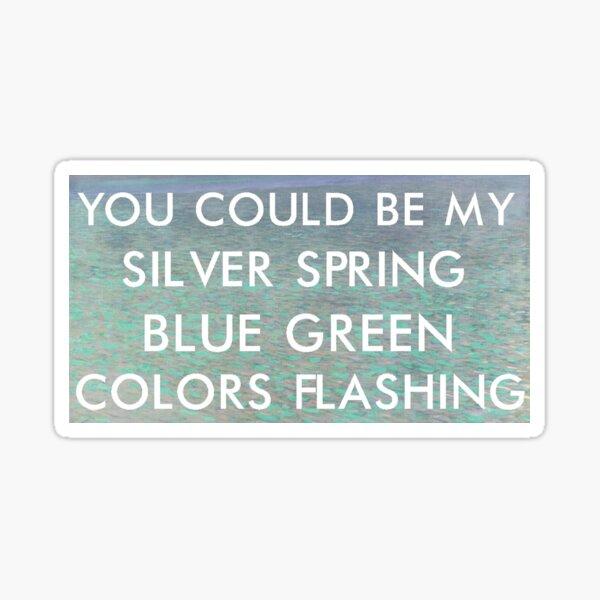 silver springs (klimt) Sticker