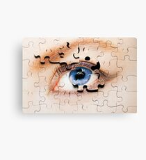 Jigsaw Eye Canvas Print