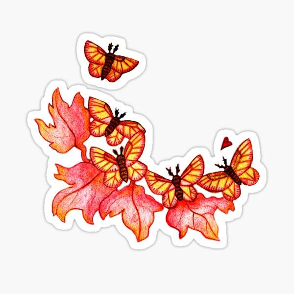 Rosy Maple Moths Sticker