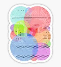 Techy Circles Sticker