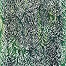 Snow Pines(Light Green) by Kanika Mathur  Design