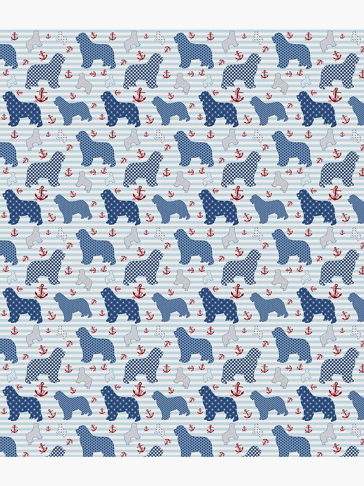Nautical Newfie Pattern by itsmechris
