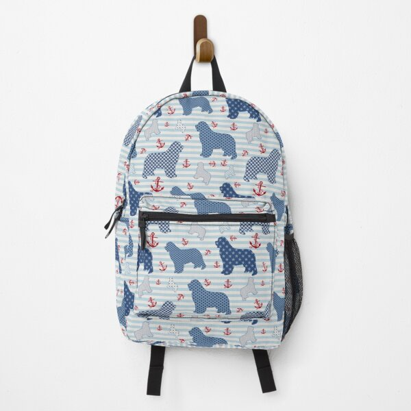 Nautical Newfie Pattern Backpack