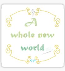 A Whole New World Needlepoint Sticker