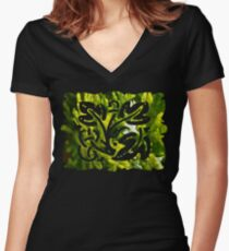 cypress bush Women's Fitted V-Neck T-Shirt