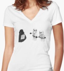STORMTROOPERS KICK ME STAR WARS   Women's Fitted V-Neck T-Shirt