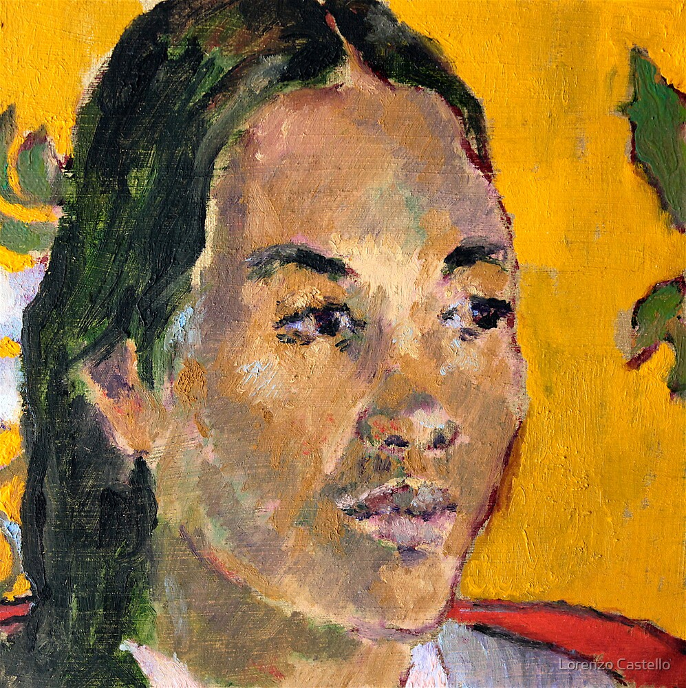 Tahitian from Gauguin revisited by Lorenzo Castello
