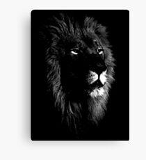 africa lion, lion black shirt Canvas Print