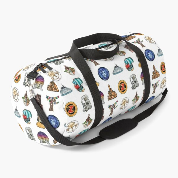 Ride Icon Pattern Duffle Bag