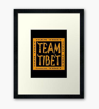 Team Tibet Framed Print