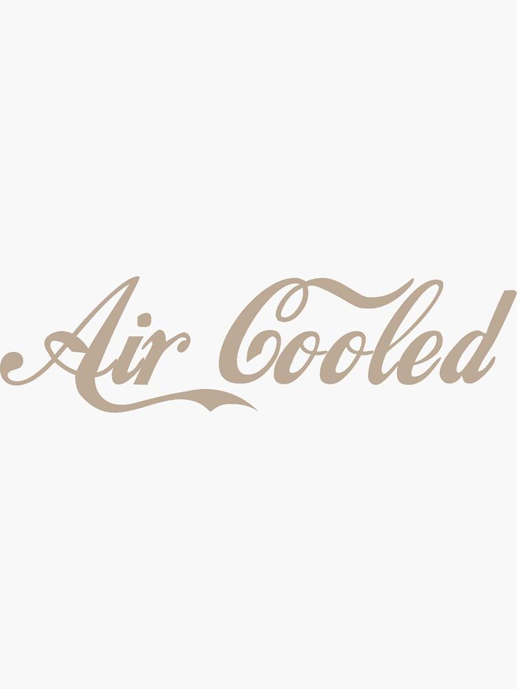 Aufkleber Air Cooled Weiß Sticker Coca Cola Porsche
