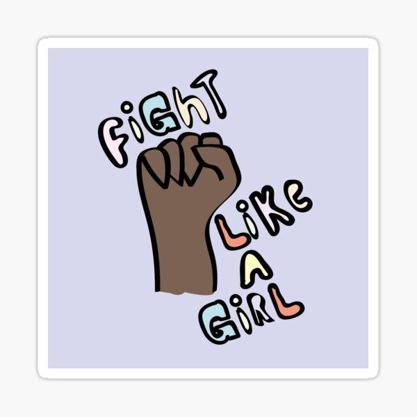 Fight like a Girl / Black Fist / Feminism in Pastels Sticker